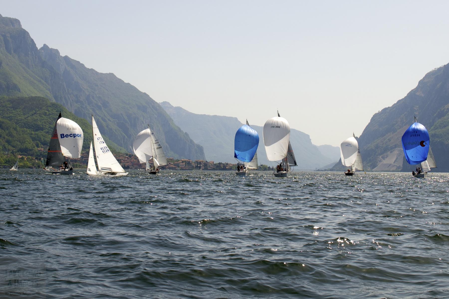 sailboat, Mandello del Lario, Lake Como, Lombardia, Italy, Europe